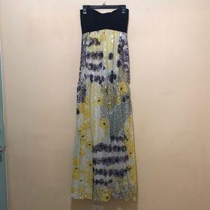 Diane Von Furstenberg Strapless Maxi Dress Size 4